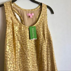 NEVER WORN - Lilly Pulitzer Gold Betty Dress